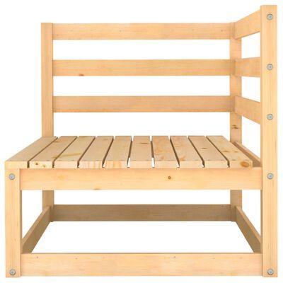 vidaXL Juego de salón de jardín 6 piezas madera maciza de pino