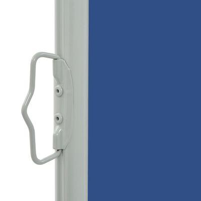 vidaXL Toldo lateral retráctil de jardín azul 60x300 cm