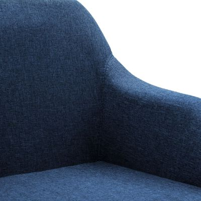 vidaXL Sillas de comedor giratorias 4 unidades tela azul