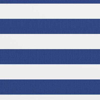 vidaXL Toldo para balcón tela oxford blanco y azul 75x600 cm