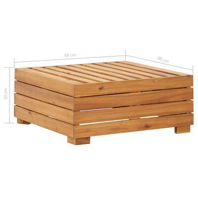 vidaXL Mesa seccional 1 pieza madera maciza de acacia
