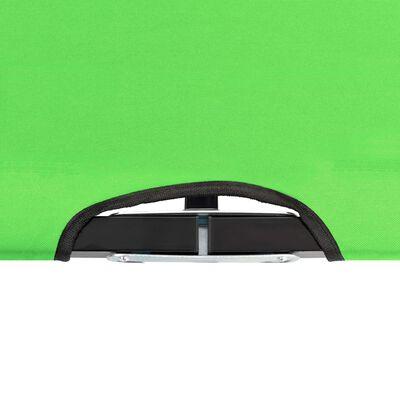 vidaXL Tumbona plegable para 2 personas acero verde