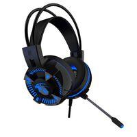 Auriculares para juegos V5000 con LED azul - USB