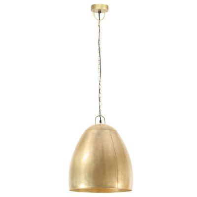 vidaXL Lámpara colgante industrial redonda 25 W latón 42 cm E27