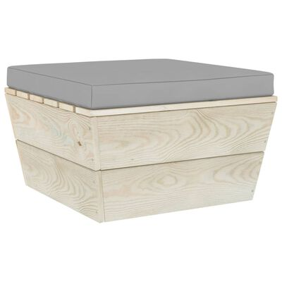 vidaXL Muebles de jardín de palets 11 pzas y cojines madera de abeto