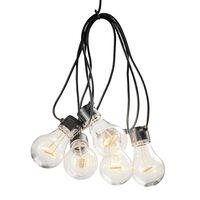 KONSTSMIDE Luces de fiesta con 5 lámparas transparentes extra cálidas