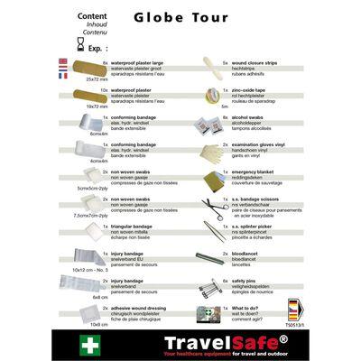 Travelsafe Botiquín de primeros auxilios 57 piezas Globe Tour rojo