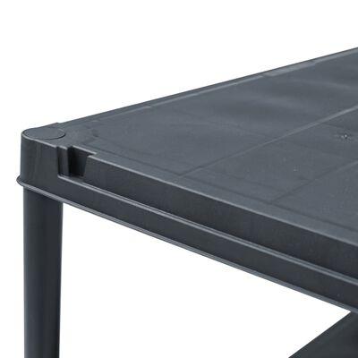 vidaXL Estantería de plástico 2 unidades 200 kg 80x40x138 cm negro