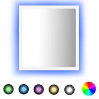 vidaXL Espejo de baño con LED aglomerado blanco 40x8,5x37 cm