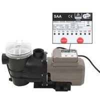 vidaXL Bomba de piscina con temporizador negra 0,25 HP 8000 L/h
