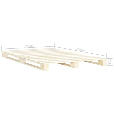 vidaXL Estructura de cama de palés madera maciza de pino 200x200 cm
