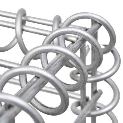 vidaXL Arriate de gaviones de acero 270x90x50 cm