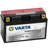 Batería para motocicleta Varta AGM, 12 V 7 Ah YT7B-4 / YT7B-BS