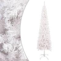 vidaXL Árbol de Navidad delgado blanco 210 cm