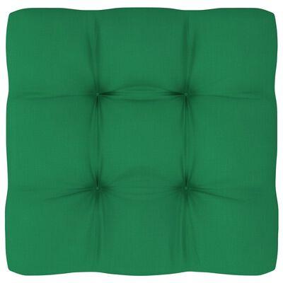 vidaXL Cojín para sofá de palets verde 70x70x12 cm