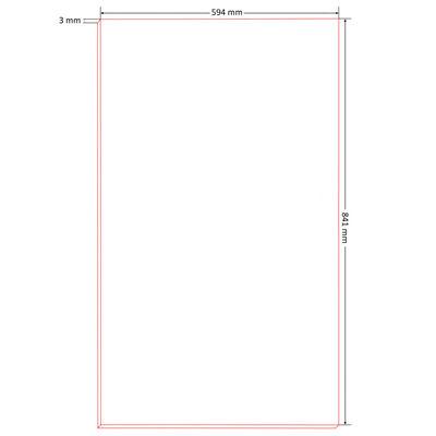 vidaXL Tablero para póster tamaño DIN A1 HDF 10 unidades 841x594x3 mm