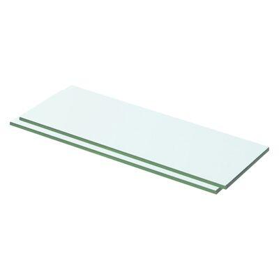 vidaXL Estantes 2 unidades panel de vidrio transparente 50x12 cm