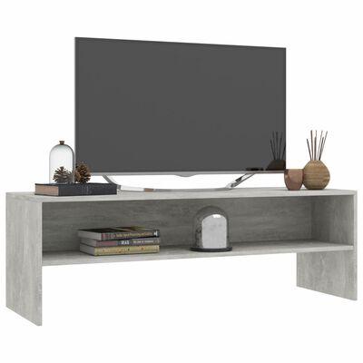vidaXL Mueble de TV aglomerado gris cemento120x40x40cm