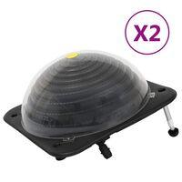 vidaXL Calentadores solares de piscina 2 pzas HDPE aluminio 75x75x36cm