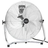 vidaXL Ventilador de suelo 3 velocidades cromado 60 cm 120 W