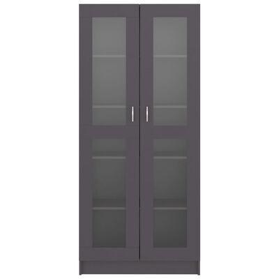 vidaXL Vitrina de aglomerado gris 82,5x30,5x185,5 cm