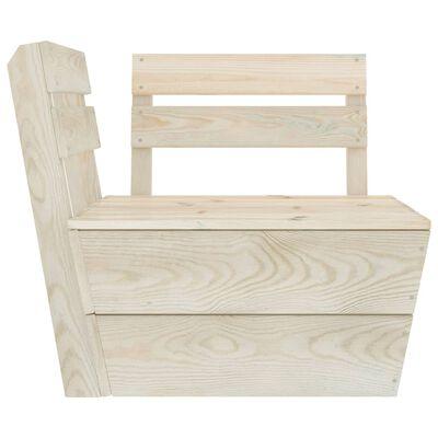 vidaXL Muebles de palets de jardín 12 pzas madera de abeto impregnada