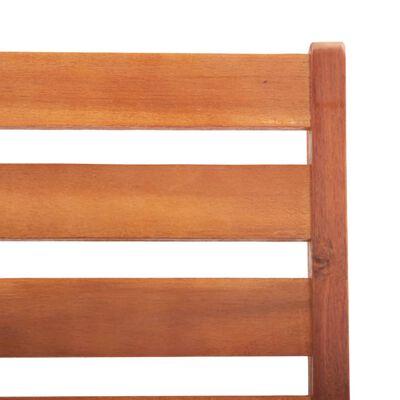 vidaXL Sillas de comedor de jardín 4 unidades madera maciza de acacia
