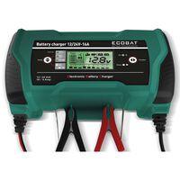ECOBAT Cargador de batería 12/24 V 16 A