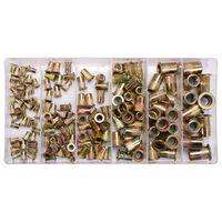 YATO Tuercas de remache 150 piezas acero al carbono M3-M10