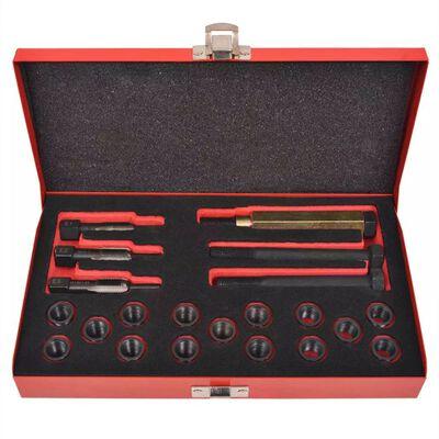 vidaXL Kit reparación de rosca bujía incandescente 21 pzas M12x1,25mm