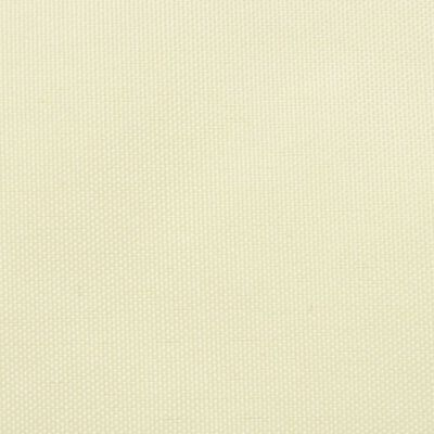 vidaXL Toldo de vela rectangular tela oxford crema 3,5x4,5 m