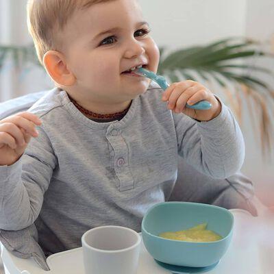 Beaba Vajilla para bebés 4 piezas Jungle silicona