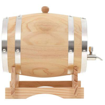 vidaXL Barril de vino con grifo madera de pino maciza 6 L