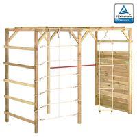 vidaXL Estructura escalada madera de pino impregnada 240x100x170 cm