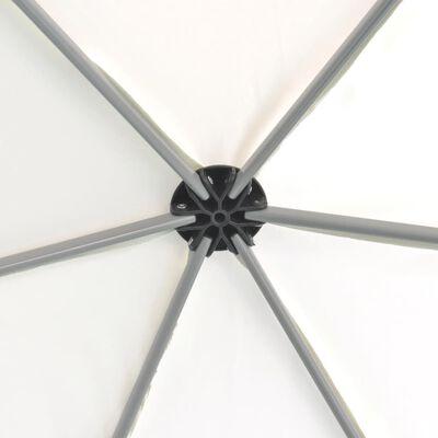 vidaXL Carpa hexagonal desplegable 6 paredes laterales crema 3,6x3,1 m
