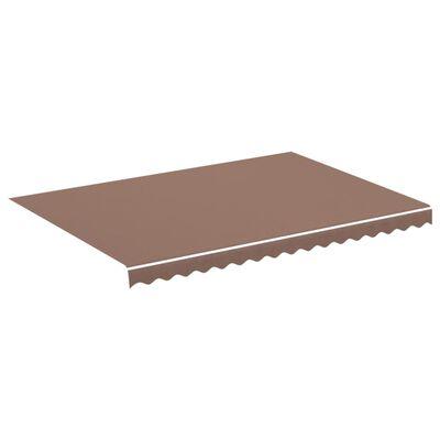 vidaXL Tela de repuesto para toldo marrón 3,5x2,5 m