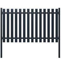 vidaXL Panel de valla acero recubrimiento polvo antracita 174,5x100 cm