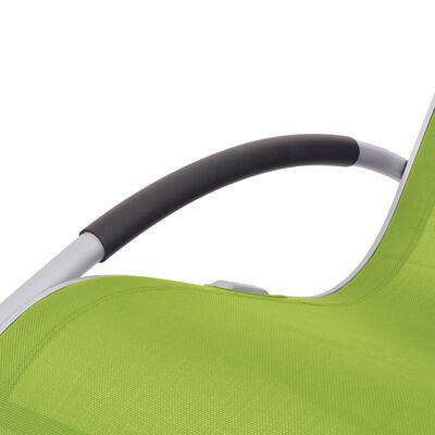 vidaXL Silla mecedora de jardín de textilene verde