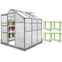 Invernadero 1.8m x 1.8m con Base y Estantería