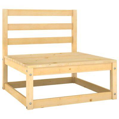 vidaXL Juego de muebles de jardín 6 piezas madera maciza de pino