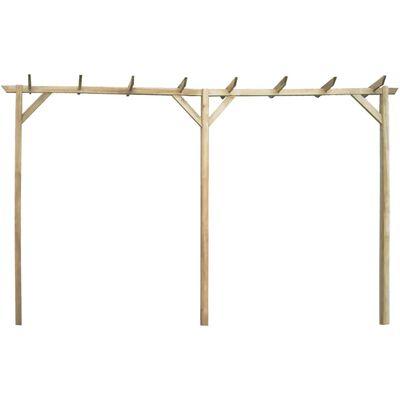 vidaXL Pérgola de jardín de madera 200x40x205 cm
