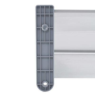 vidaXL Marquesina para puerta PC gris 300x100 cm