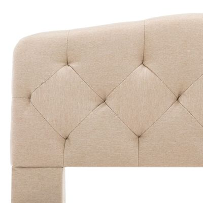 vidaXL Estructura de cama de tela beige 100x200 cm