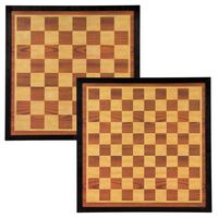 Abbey Game Tablero de ajedrez y damas madera marrón y beige 41x41 cm