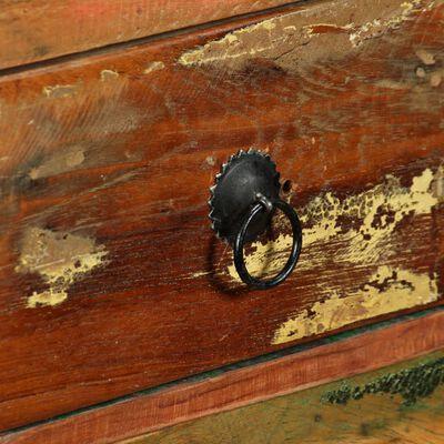 vidaXL Aparador de madera reciclada maciza 120x35x76 cm