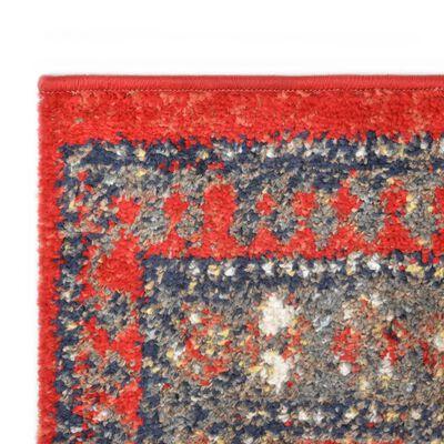 vidaXL Alfombra de PP rojo 120x170 cm