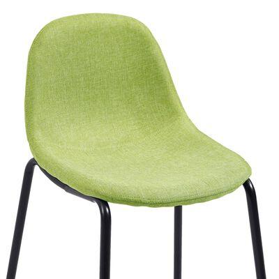 vidaXL Juego de mesa alta y taburetes 5 piezas tela verde