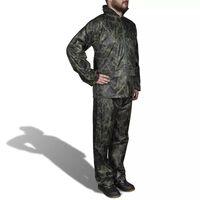 Chubasquero impermeable pantalón sudadera hombre camuflaje XXL