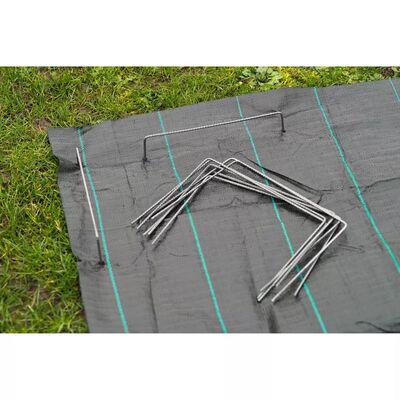 Nature Grapas para fijar toldo en el suelo metal 20 unidades 25x20 cm