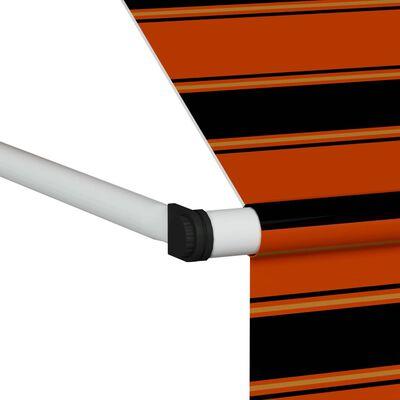 vidaXL Toldo manual retráctil naranja y marrón 350 cm